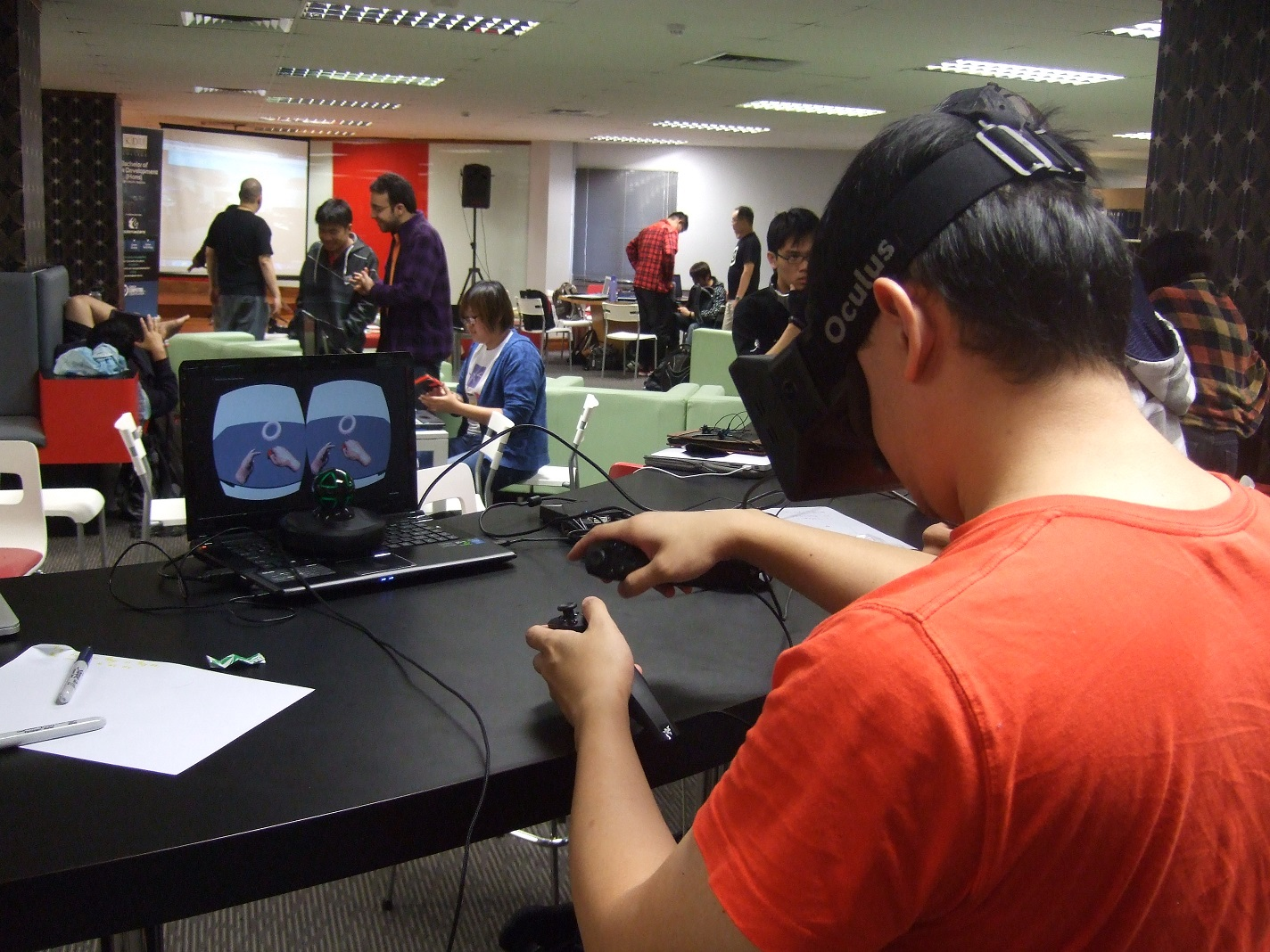 Yang playing the final game